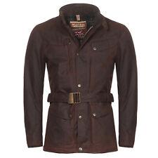 MATCHLESS Herren Winter Wax Mantel KENSINGTON Antique Brown 110304 Größe L