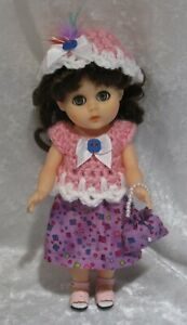 """Made to fit 8"""" GINNY Vogue  #132 Top, Hat, Skirt & Purse,  Handmade doll clothes"""