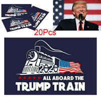 lot 20Pcs Donald Trump Bumper Sticker 2020 All Aboard The Trump Train