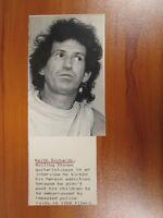 Vintage Wire AP Press Photo Keith Richards Guitarist Rolling Stones, Winos #3