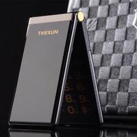 "Touch Flip Mobile Cell Phone Business Big Screen 3.0"" Quick Key Metal Men Senior"