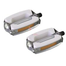 """New White Krate Bicycle Pedals 9/16"""" Lowrider Beach Cruiser Bow Style Bike Pedal"""