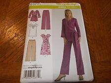 Simplicity Pattern 2371 Miss/Womens EZ Dresses~Tunics w/Varis & Pants 2 Lengths