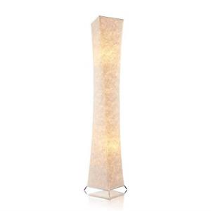 "65"" Soft Light LED Floor Lamp,LEONC RGB Color Changing Tyvek Fabric Shade Modern"