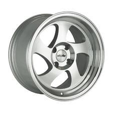 15x8 +20 Whistler KR1 4x100 +20 Silver Machine Wheel Fits Vw Scirocco Cabriolet