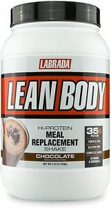 Labrada LEAN BODY Protein Meal Replacement 2.47 lb BUILD MUSCLE, Chocolate
