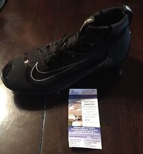 TREVOR STORY Signed BLACK NIKE AIR HUARACHE BASEBALL CLEATS JSA/COA SD20003