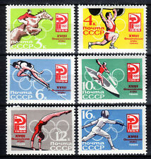 Russia - 1964 Olympic games Tokyo - Mi. 2932-37 MNH