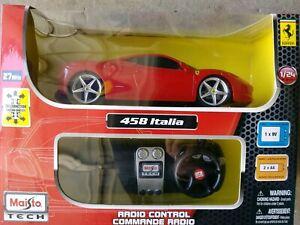 MAISTO TECH 1:24 RADIO CONTROL FERRARI 458 ITALIA READY-TO-RUN R/C TOYS 81058RTR