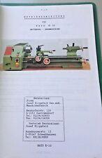Operating Instructions Universal-Drehmaschine Rayo K-10 (Reproduction)