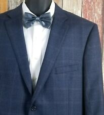 Peter Millar Men's Blue Houndstooth Wool Blazer Sport Coat Jacket 44 Short