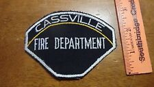 CASSVILLE NEW YORK   FIRE DEPARTMENT  FIRE DEPARTMENT   PATCH BX V#22