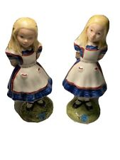 Vintage Royal Doulton Tableware Alice Beswick 1976 4.5� Tall Repaired Lot Of 2