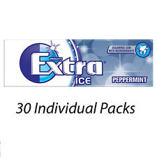 WRIGLEYS EXTRA ICE PEPPERMINT FLAVOUR 10 PIECES CHEWING GUM x 30 PACKETS 115231
