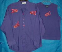 Las Olas RED HAT SOCIETY Purple 2 PC Women's Size Large Tank/Button Front