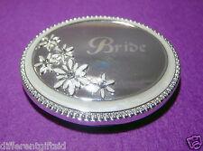 Bride - Silver Plate/Enamel Compact Mirror.