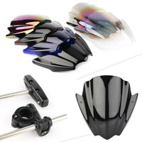 "Windshield Windscreen Universal For 7/8"" 1"" Handlebar Mount Motorcycle"