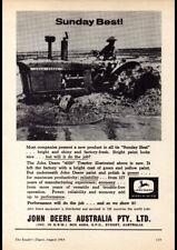 """1964 JOHN DEERE TRACTORS AD A2 CANVAS PRINT POSTER FRAMED 23.4""""x16.5"""""""