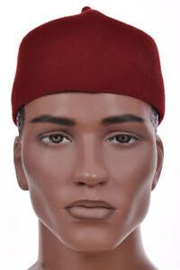 Maroon Nigerian Igbo Ozo Cap African Hat