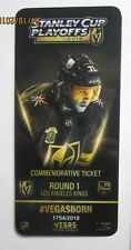 Vegas Golden Knights vs Los Angeles Kings Round 1 game 1 Commemorative ticket LE