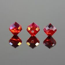 8pcs 8mm Crown shape Swaro-element crystal beads E Red