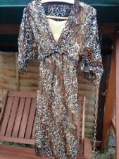 Animal Print Dresses for Women with Kimono Sleeve