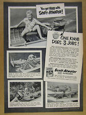 1952 Scott-Atwater SHIFT Outboard Motors 4x photo vintage print Ad