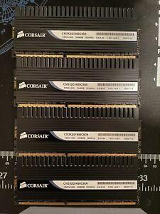 Corsair Dominator 8GB (4x2GB) 1600 MHz DDR3-1600 PC3-12800U RAM CM3X2G1600C9D6