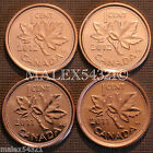 🇨🇦2011 & 2012 BU CANADA 1 CENT MINT STATE (4 COINS)    <br/> UNC FROM MINT ROLL - PLEASE SEE THE ITEM DESCRIPTION