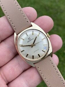 Zenith Automatic Ref 2215 Cal.2572 Solid 9ct Gold 1970s