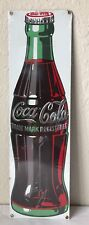 Retro Ande Rooney Coca-Cola Coke Bottle Porcelain Enamel Sign 21x6.25""