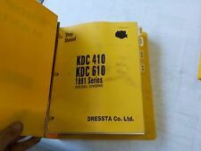 Komatsu KDC 410, KDC 610, 1991 series diesel engine,    shop manual