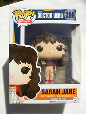 Funko Pop Doctor Who Sarah Jane #298 Vinyl Bobble Head Nodder New Mib Ships Free