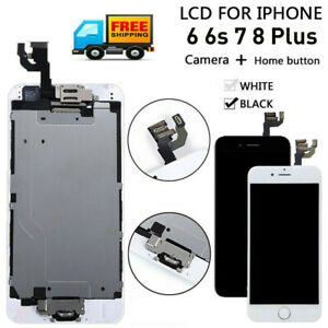 For iPhone 6S 6 7 8 Plus LCD Touch Screen Full Replacement With Button & Camera