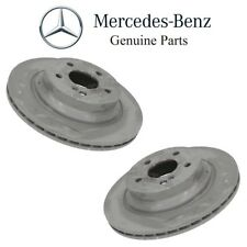 For Mercedes X204 W212 W218 W219 Set of 2 Rear Vented Brake Disc Rotors Genuine
