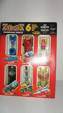 Remco Zybots 1984 transformer robots 6 piece deluxe gift set mib,moc RARE!!!!!!!
