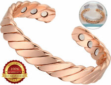 Copper Magnetic Health Bracelet 6 Magnets Bangle Arthritis Therapy Pain Healing