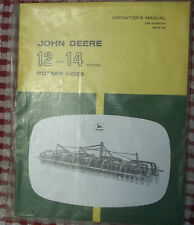 John Deere Operator's Manual 12 and 14 series Rotary Hoes Om-N159194 Owners