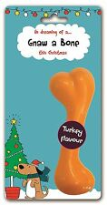 GOODBOY DOG PUPPY CHRISTMAS XMAS TURKEY FLAVOUR NYLON GNAW A BONE TOY CHEW 10956