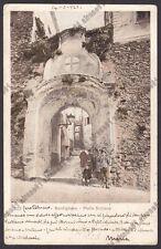 IMPERIA BORDIGHERA 147 PORTA SUTTANA Cartolina primi '900 MA viaggiata 1923