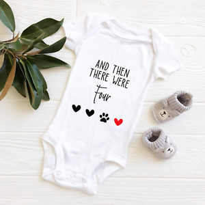 Pregnancy Reveal | And Then There Were Four Baby Announcement Bodysuit