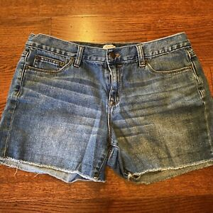 J. Crew Frayed Cutoff Blue Jean Denim Shorts 100% Cotton Women's Size 29