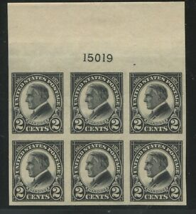 1923 US Stamp #611 2c Mint Never Hinged Very Fine Plate No. 15019 Block of 6