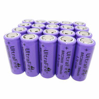 20 X 26650 Li-ion Battery 7800mAh 3.7V Rechargeable Batteries for LED Flashlight
