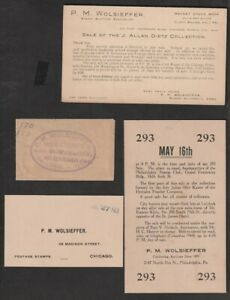 PM Wolfsieffer Miscellaneous Advertising Items, Business Card, Postcard Etc