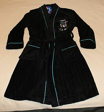 Port Adelaide Power AFL Boys Black Embroidered Fleece Dressing Gown Size 8 New