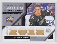 18/19 SP GAME USED..RICKARD RAKELL..ALL-STAR SKILLS RELIC BLENDS../125..2 COLOR