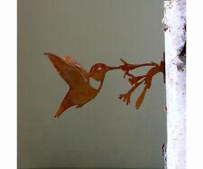 Garden HUMMINGBIRD, BIRD Silhouette Rusty Metal, Steel Rustic Art Made in USA