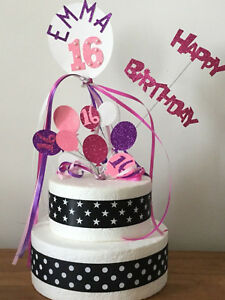 Cake Topper Personalised Decoration Balloon All Ages 18th 21st 30th 40th