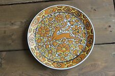 "7"" Hand Made Deer Plate by Nassos Keramika Paradissi Rhodes Greece"